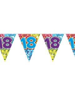 Wimpelkette 18. Geburtstag Party-Deko bunt 600x30cm