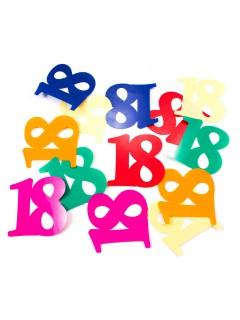 Tisch-Konfetti 18. Geburtstag Party-Deko 12 Stück bunt 6,5x6,5cm 9,07g