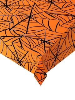 Halloween Tischdecke Spinnennetz Tischdeko orange 137x274cm