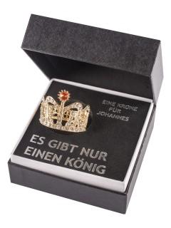 Penis Krone mit Geschenk-Box bunt 4x3,5cm