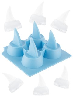 Haiflossen Eiswürfel-Form blau 10x10cm