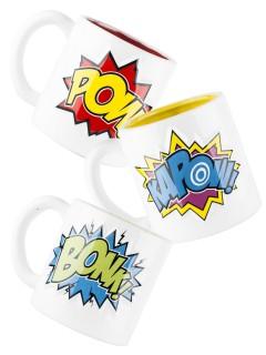 Comic-Tassen Geschenkset 3-teilig bunt 500ml