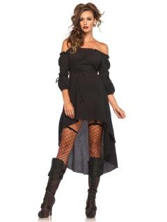 Gothic-Kostüm Damenkostüm schwarz