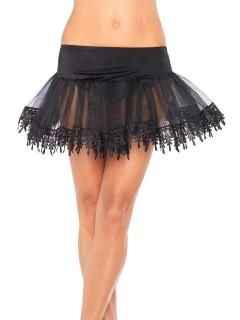 Petticoat Tüll-Rock Kostüm-Accessoire schwarz