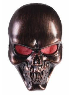 Totenschädel Halloween-Maske Skull bronze