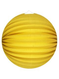 Ball-Lampion Party-Deko Laterne gelb 25cm