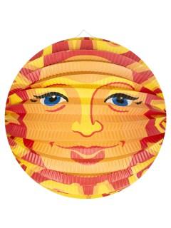 Ball-Lampion Party-Deko Sonne oder Mond bunt 22-40cm