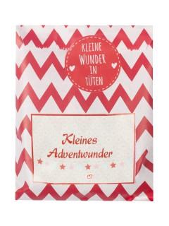 Wundertüte kleines Adventswunder Weihnachten Deko-Set 9-teilig bunt 13 x 16 cm