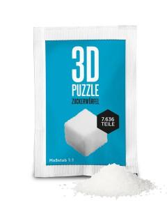 3D-Puzzle Zuckerwürfel Scherzartikel Geschenk weiss 5,6g
