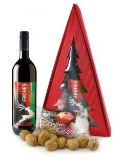 Geschenkset für Weihnachten 3-teilig rot