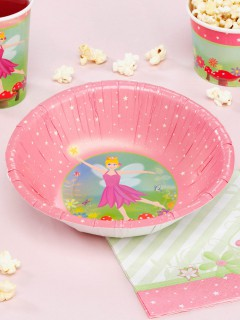Fee Pappschüsseln Elfe Kinderparty-Deko 8 Stück rosa-grün 18,5cm
