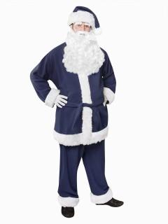 Nikolaus Kostüm Weihnachtsmann dunkelblau-weiss