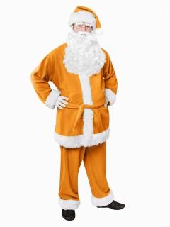 Nikolaus Kostüm Weihnachtsmann orange-weiss