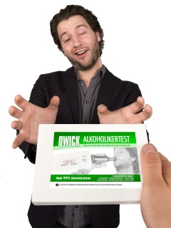 Alkoholikertest-Kit Scherzartikel Set 7-teilig weiss-grün