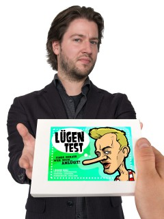 Lügentest-Kit Scherzartikel Set 7-teilig weiss-grün