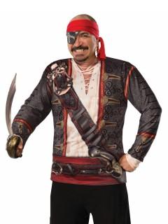 Pirat Longsleeve für Herren bunt