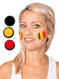 Belgien Schmink-Set Fussball Make-up 3-teilig schwarz-gelb-rot 60ml