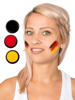 Deutschland Schmink-Set Fussball Make-up 3-teilig schwarz-rot-gelb 60ml