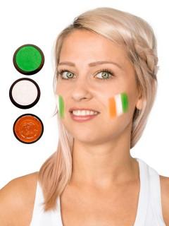 Elfenbeinküste Schmink-Set Fussball Make-up 3-teilig orange-weiss-grün 43,5ml
