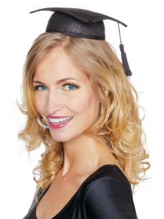 Mini-Hut Diplomandin mit Quaste schwarz