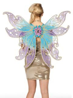 Schmetterlings-Flügel Fee blau-rosa 72x90cm