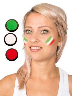 Iran Schmink-Set Fussball Make-up 3-teilig grün-weiss-rot 60ml