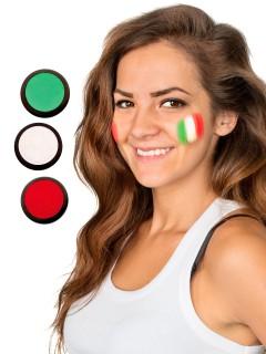 Italien Schmink-Set Fussball Make-up 3-teilig grün-weiss-rot 60ml