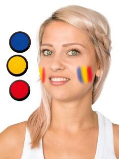 Rumänien Schmink-Set Fussball Make-up 3-teilig rot-gelb-blau 60ml
