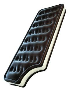Eiscreme-Sandwich Luftmatratze braun-weiss 183x76x20cm