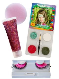 Feen Schmink-Set Karneval Make-up 4-teilig bunt