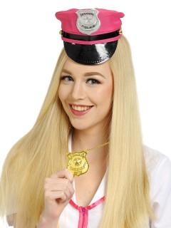 Polizei-Abzeichen Kette gold
