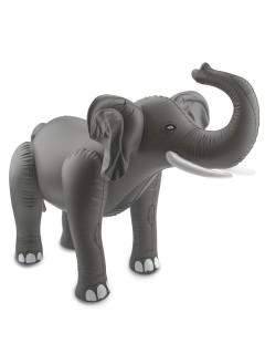 Aufblasbarer Elefant Party-Deko grau-weiss 60x75x25cm