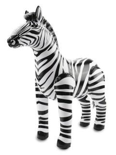 Aufblasbares Zebra Party-Deko schwarz-weiss 60x55x25cm