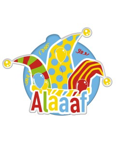 Alaaf Karneval Party-Wanddeko bunt 46cm