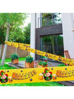 Absperrband Alaaf Karneval Party-Deko gelb-bunt 15m