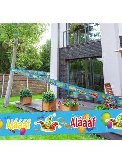 Absperrband Alaaf Karneval Party-Deko hellblau-bunt 15m