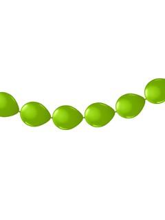 Ballon Girlande Ketten-Ballons Party-Deko grün 300x30cm