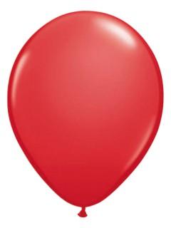 Metallic Luftballons Ballons Party-Deko 10 Stück rot 30cm