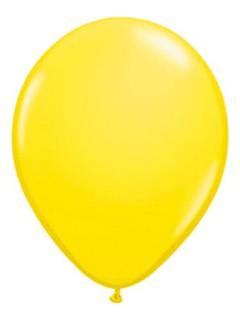 Metallic Luftballons Ballons Party-Deko 10 Stück gelb 30cm