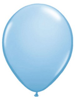 Metallic Luftballons Ballons Party-Deko 100 Stück hellblau 30cm