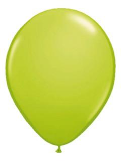 Metallic Luftballons Ballons Party-Deko 10 Stück limonengrün 30cm