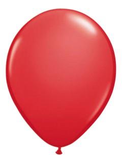 Metallic Luftballons Ballons Party-Deko 10 Stück rubinrot 30cm