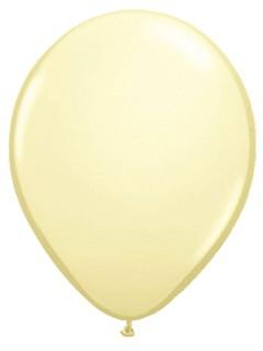 Metallic Luftballons Ballons Party-Deko 100 Stück elfenbein 30cm