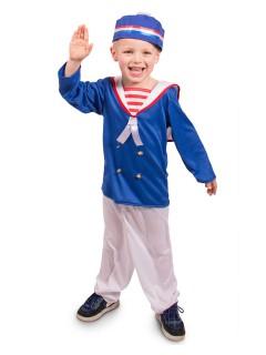 Matrose Kinderkostüm Seefahrer blau-weiss