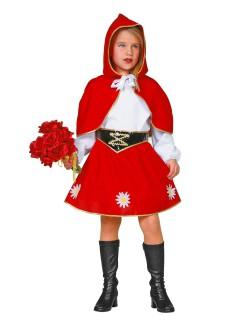Rotkäppchen Kinderkostüm Märchen rot-weiss-schwarz