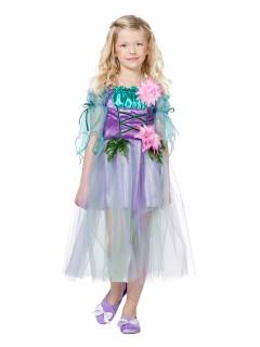 Zauberhafte Fee Kinderkostüm Elfe türkis-lila