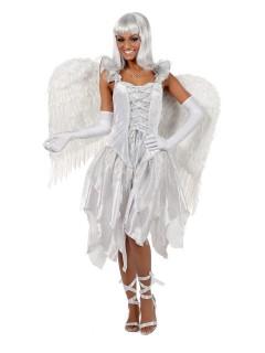 Edler Engel Damenkostüm weiss