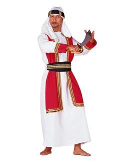 Arabischer Prinz Kostüm Orient weiss-rot-schwarz