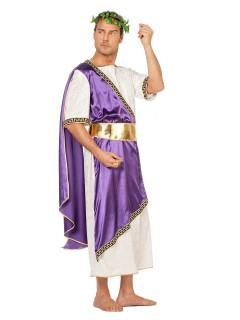 Römer Kostüm Antike creme-lila-gold