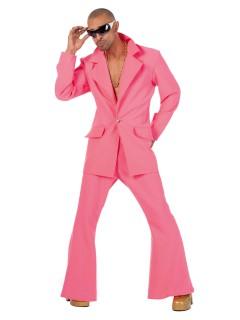 70er-Jahre Disco-Anzug Kostüm pink